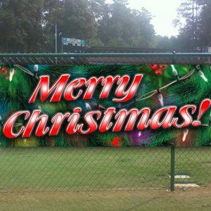 Merry Christmas Banner Tampa Printing