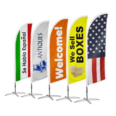 Tear Drop Flags Tampa Printing