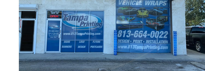 Storefront Wrap Tampa Printing