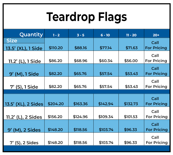 Teardrop Flags from Tampa Printing